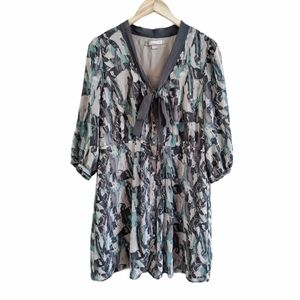 Love 21 Forever 21 Watercolor Long Sleeve Dress M